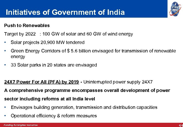 Initiatives of Government of India Push to Renewables Target by 2022 : 100 GW