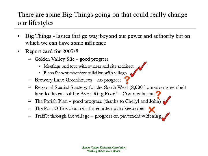 There are some Big Things going on that could really change our lifestyles •