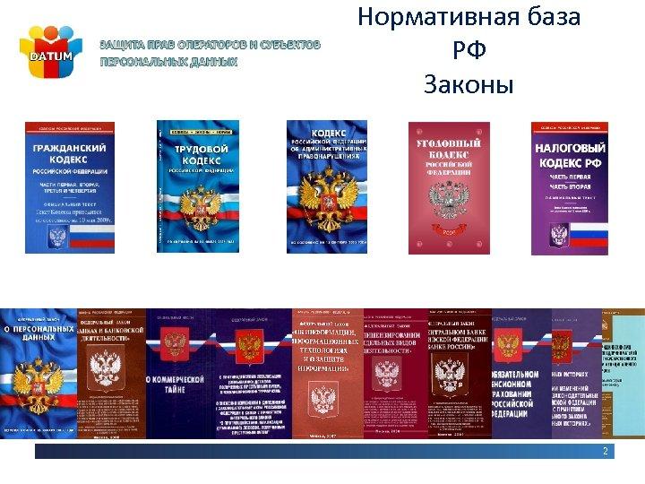 Нормативная база РФ Законы 2