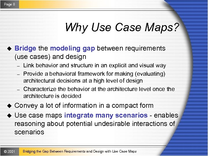 Use Case Maps Introduction to Use Case Maps