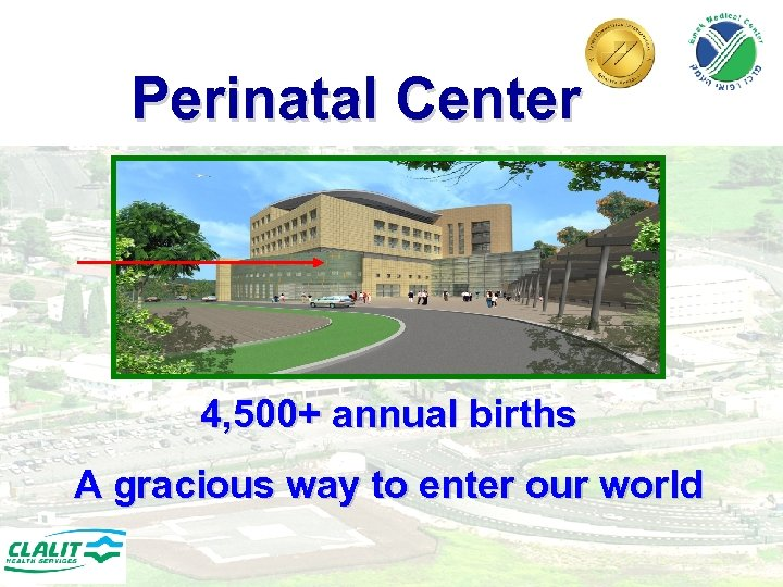 Perinatal Center 4, 500+ annual births A gracious way to enter our world 12