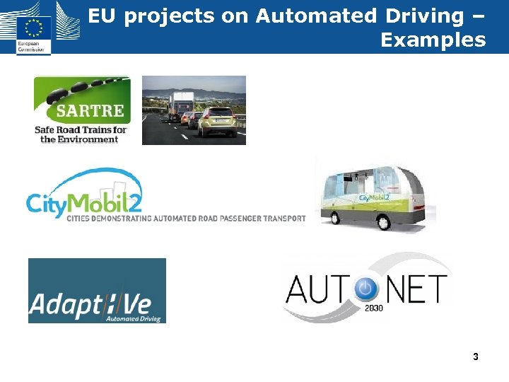 EU projects on Automated Driving – Examples 3