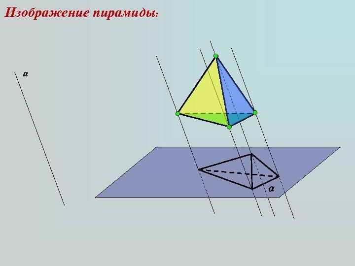Изображение пирамиды: а