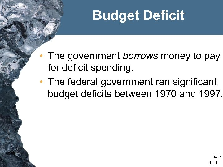 evaluating the ethics of deicit spending using The cbo calls this a standardized deficit (or structural deficit) a deficit that occurs when a government budget is in deficit because of expansionary fiscal policy a key simplification in these pictures is that the level of potential gdp is independent of taxes and government spending.