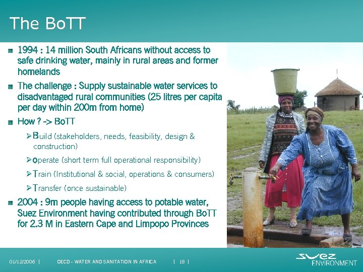 The Bo. TT 1994 : 14 million South Africans without access to safe drinking