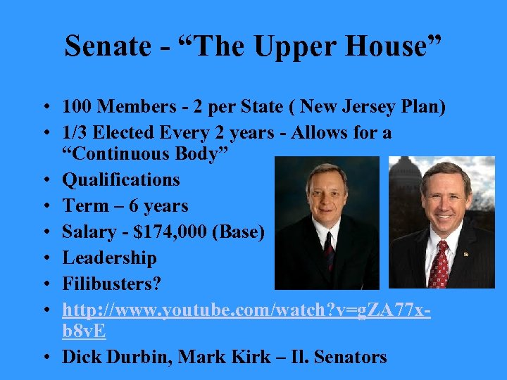 "Senate - ""The Upper House"" • 100 Members - 2 per State ( New"
