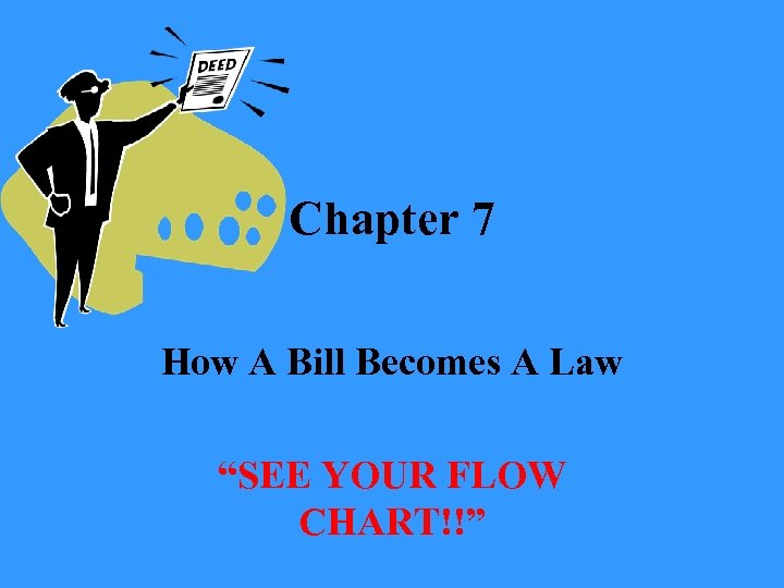 "Chapter 7 How A Bill Becomes A Law ""SEE YOUR FLOW CHART!!"""