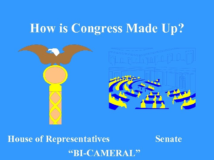 "How is Congress Made Up? House of Representatives ""BI-CAMERAL"" Senate"