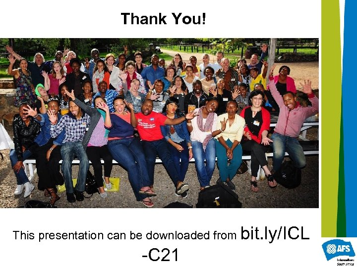 Thank You! This presentation can be downloaded from bit. ly/ICL -C 21