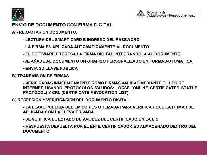 ENVIO DE DOCUMENTO CON FIRMA DIGITAL. A)- REDACTAR UN DOCUMENTO. - LECTURA DEL SMART