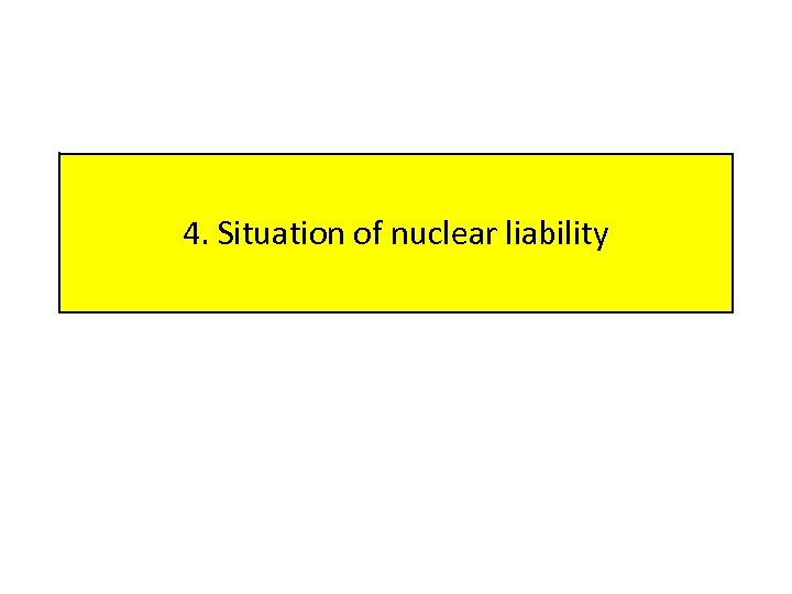 4. Situation of nuclear liability