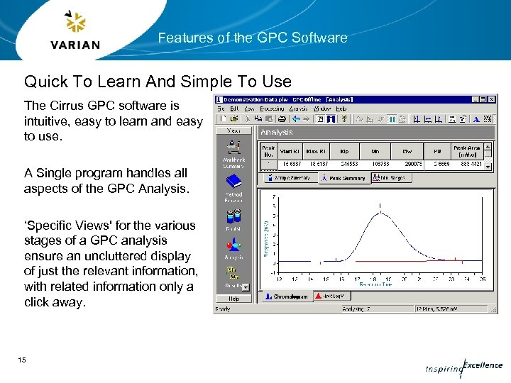 Features of the GPC Software Quick To Learn And Simple To Use The Cirrus