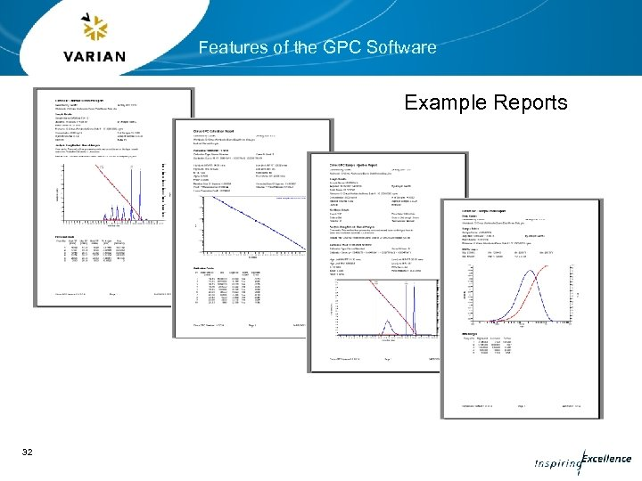 Features of the GPC Software Example Reports 32