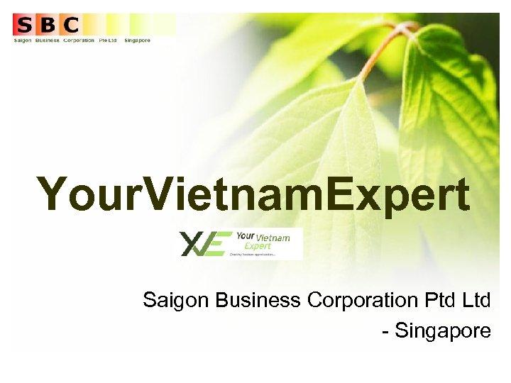 Your. Vietnam. Expert Saigon Business Corporation Ptd Ltd - Singapore