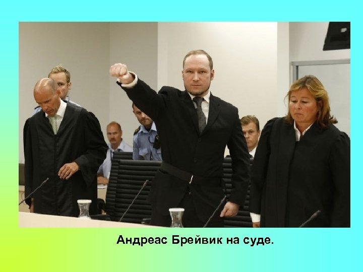 Андреас Брейвик на суде.