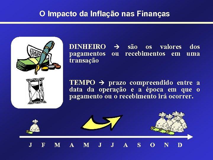 O Impacto da Inflação nas Finanças DINHEIRO são os valores dos pagamentos ou recebimentos