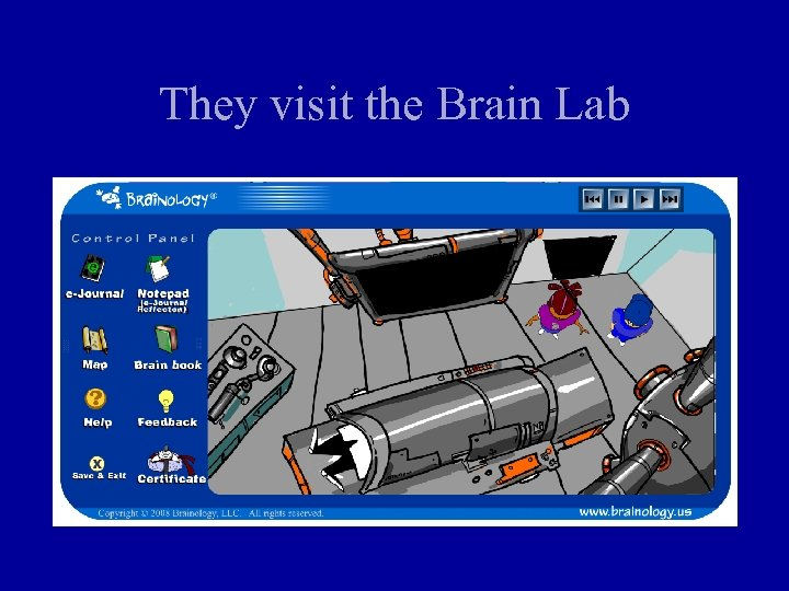 They visit the Brain Lab