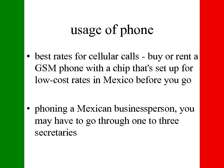 usage of phone • best rates for cellular calls - buy or rent a