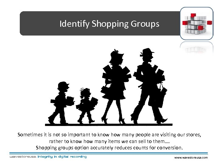 Identify Shopping Groups Sometimes it is not so important to know how many people