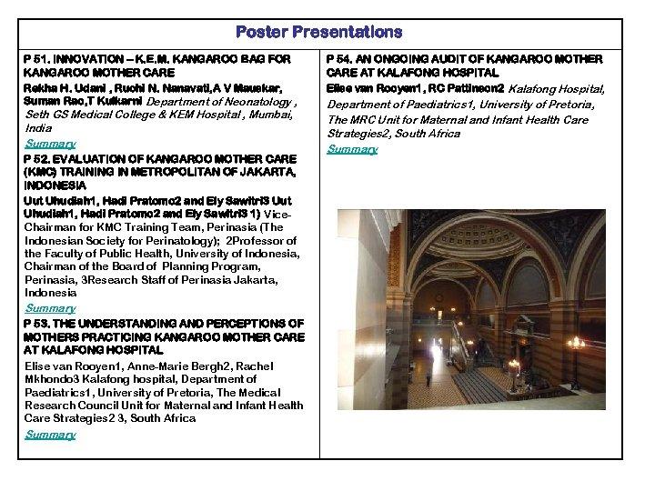 Poster Presentations P 51. INNOVATION – K. E. M. KANGAROO BAG FOR KANGAROO MOTHER