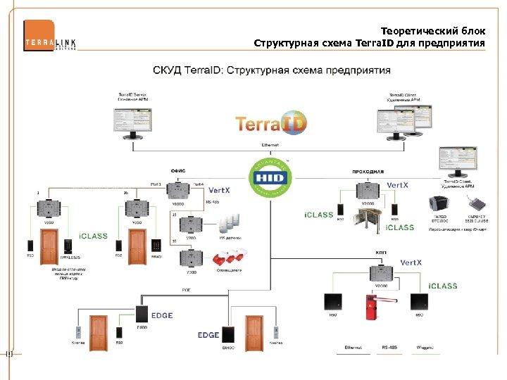 Теоретический блок Структурная схема Terra. ID для предприятия