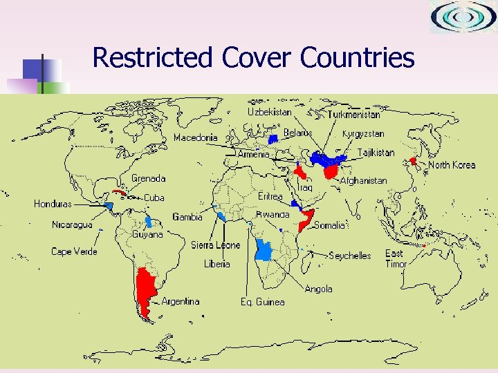 Restricted Cover Countries