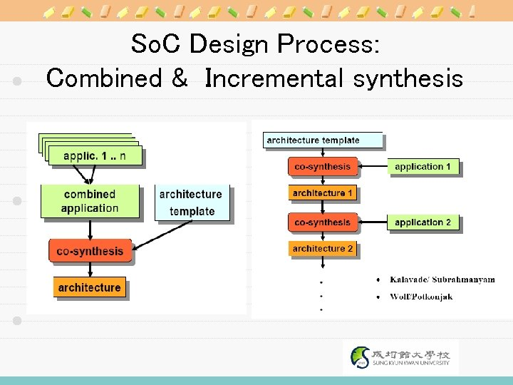 So. C Design Process: Combined & Incremental synthesis