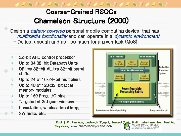 Coarse-Grained RSOCs Chameleon Structure (2000) Design a battery powered personal mobile computing device that