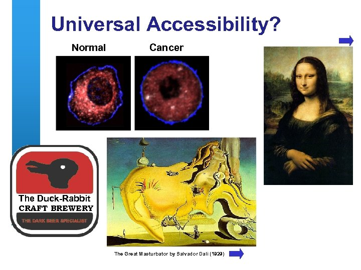 Universal Accessibility? Normal Cancer The Duck-Rabbit CRAFT BREWERY The Great Masturbator by Salvador Dali