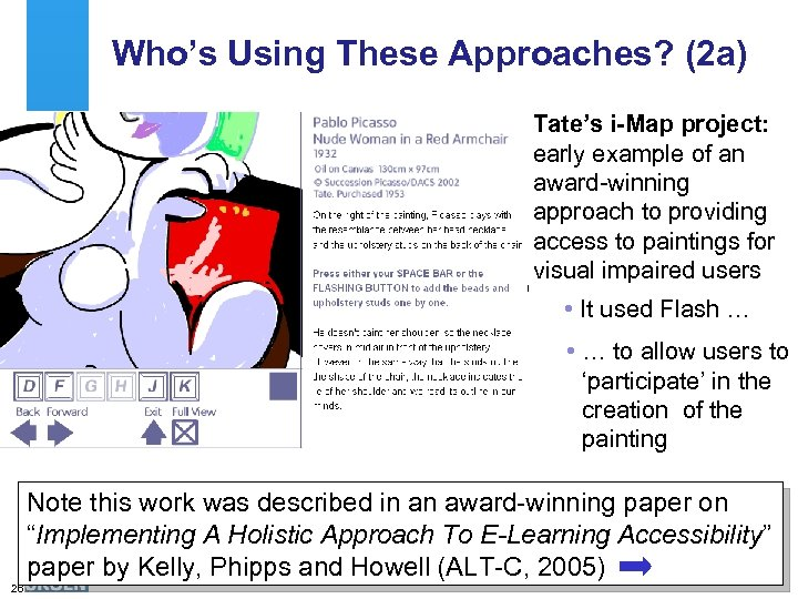 Who's Using These Approaches? (2 a) Tate's i-Map project: early example of an award-winning