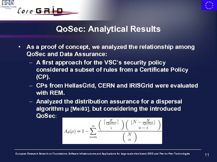Qo. Sec: Analytical Results • As a proof of concept, we analyzed the relationship