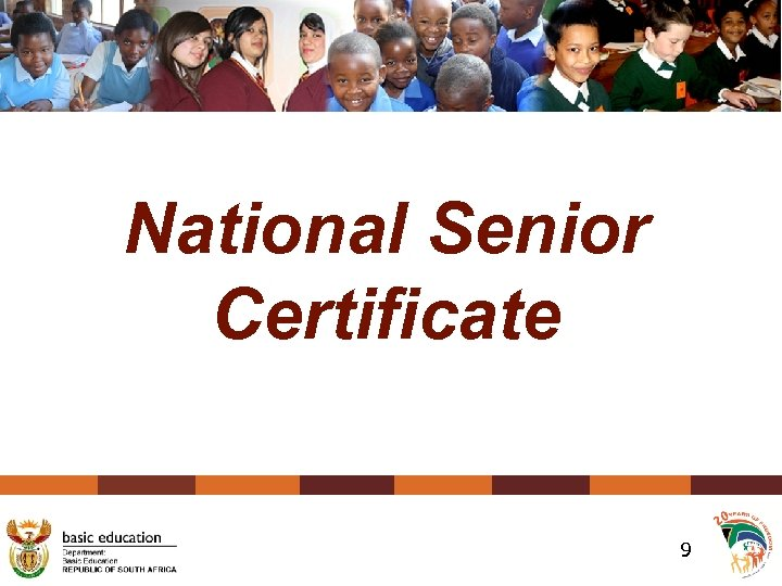National Senior Certificate 9