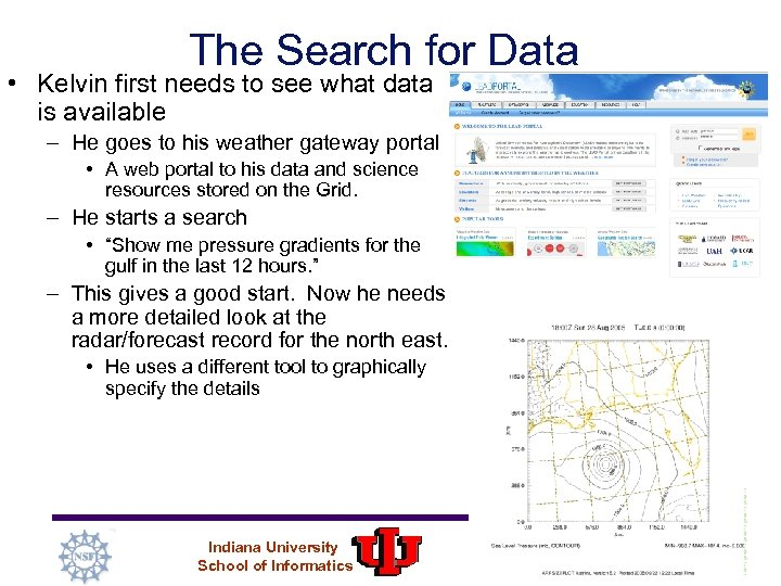The Search for Data • Kelvin first needs to see what data is available