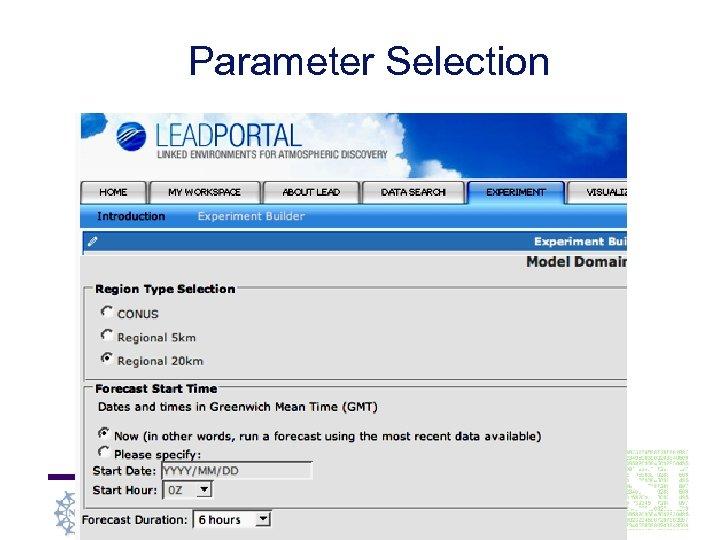 Parameter Selection Indiana University School of Informatics