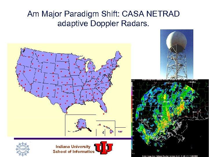 Am Major Paradigm Shift: CASA NETRAD adaptive Doppler Radars. Indiana University School of Informatics