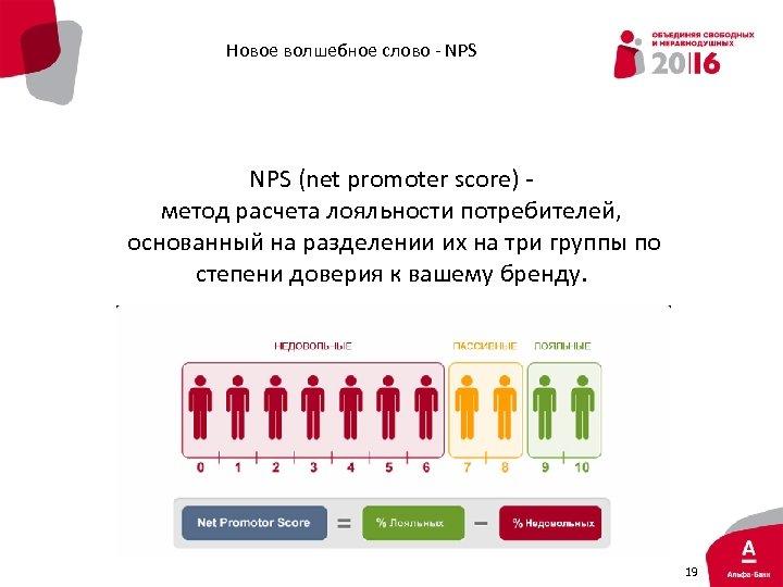 Новое волшебное слово - NPS (net promoter score) - метод расчета лояльности потребителей, основанный