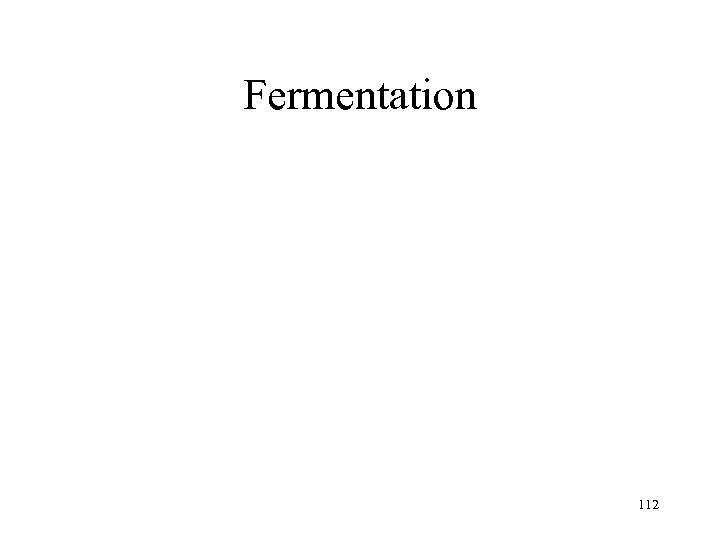Fermentation 112