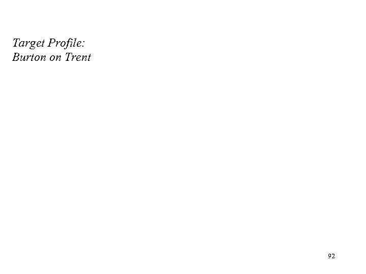 Target Profile: Burton on Trent 92
