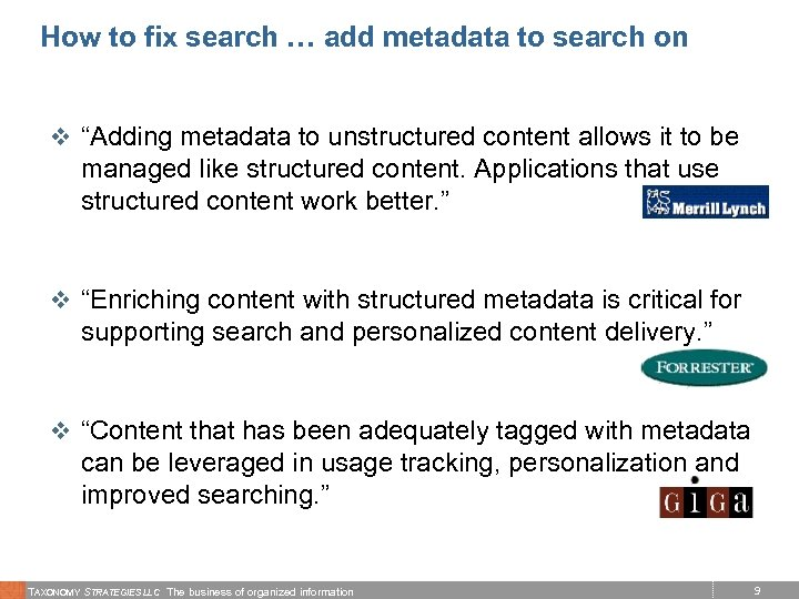 """How to fix search … add metadata to search on v """"Adding metadata to"""
