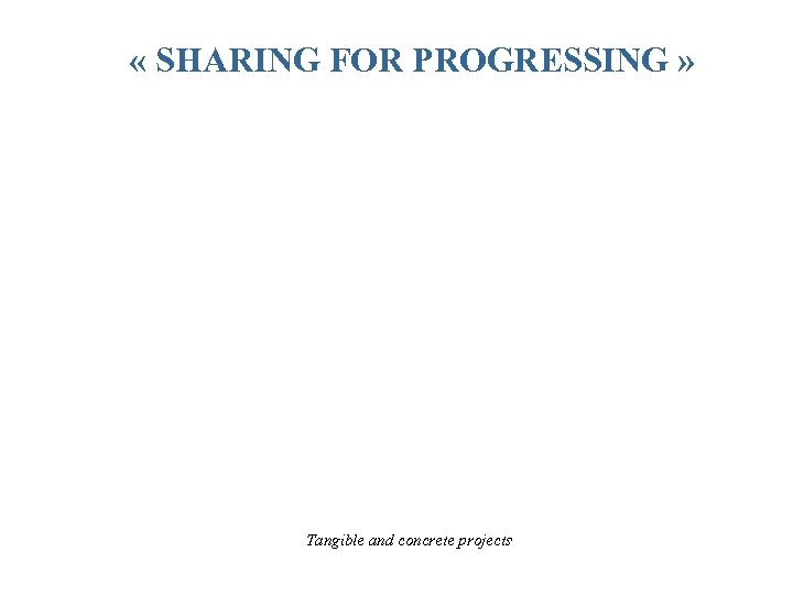 « SHARING FOR PROGRESSING » TRANSFER TOOLS & METHOD CAPITALISATION OF GOOD PRACTICES