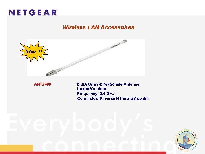 Wireless LAN Accessoires New !!! ANT 2409 9 d. Bi Omni-Direktionale Antenne Indoor/Outdoor Frequency: