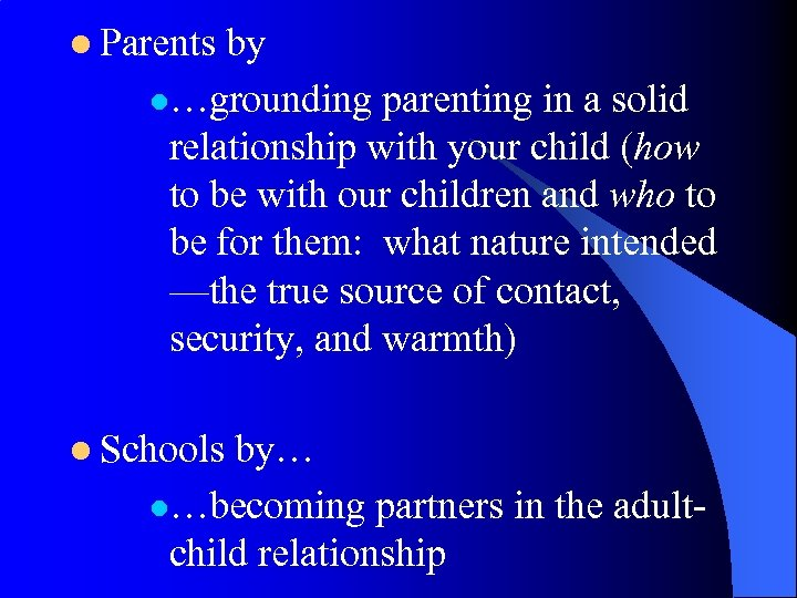 l Parents by l…grounding parenting in a solid relationship with your child (how to