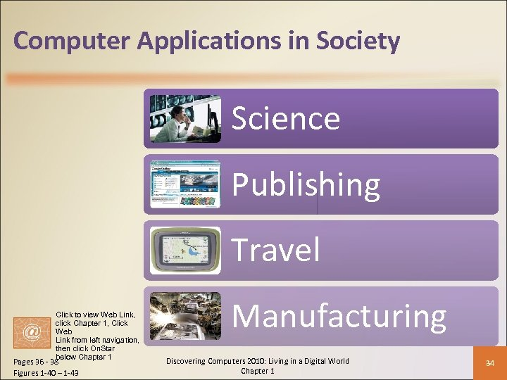Computer Applications in Society Science Publishing Travel Click to view Web Link, click Chapter