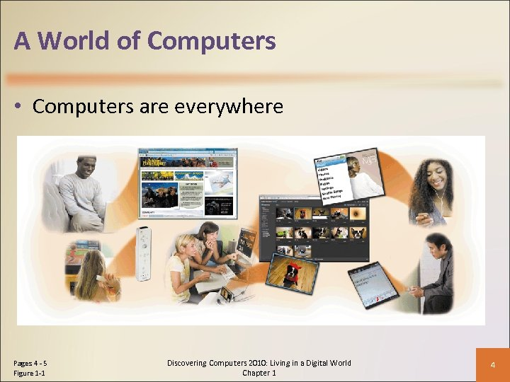 A World of Computers • Computers are everywhere Pages 4 - 5 Figure 1