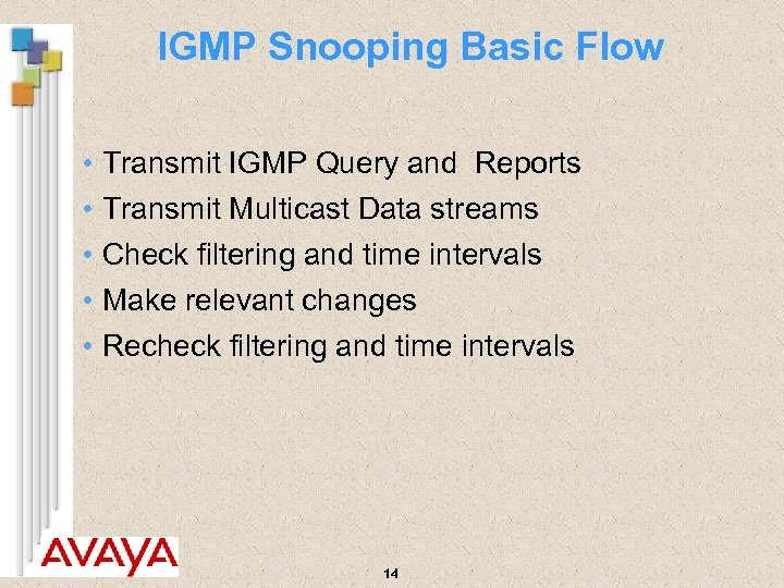 IGMP Snooping Basic Flow • Transmit IGMP Query and Reports • Transmit Multicast Data