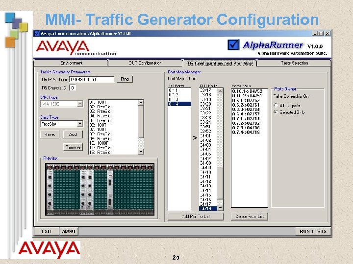 MMI- Traffic Generator Configuration 25