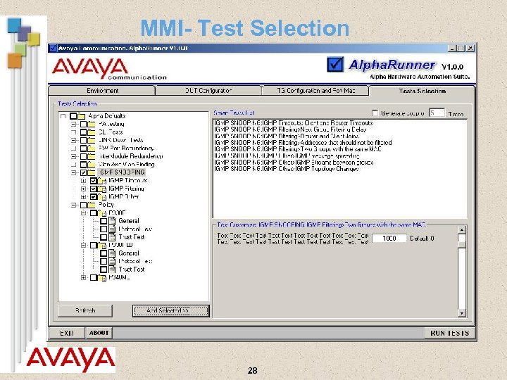 MMI- Test Selection 28