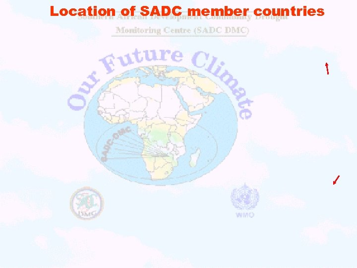 Location of SADC member countries