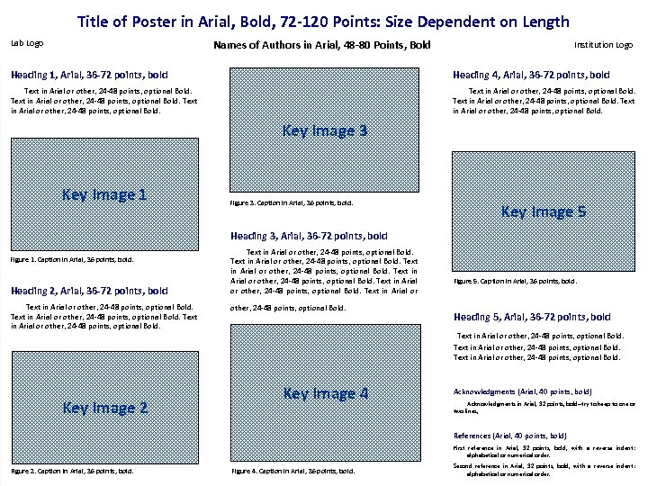 Title of Poster in Arial, Bold, 72 -120 Points: Size Dependent on Length Lab