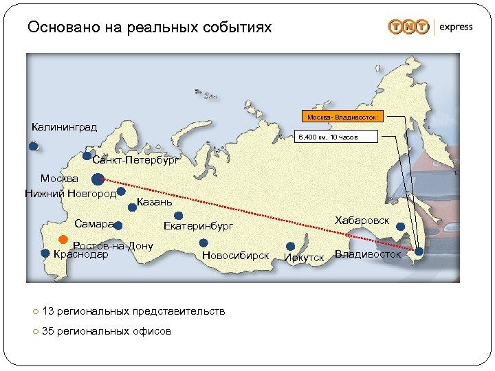 Основано на реальных событиях Москва- Владивосток: Калининград 6, 400 км, 10 часов Санкт-Петербург Москва